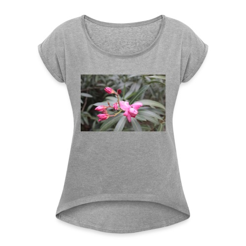 Pink desert - Women's Roll Cuff T-Shirt