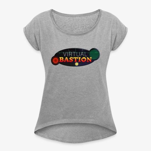 Virtual Bastion: Space Logo - Women's Roll Cuff T-Shirt