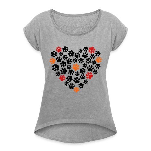 Animal Love - Women's Roll Cuff T-Shirt