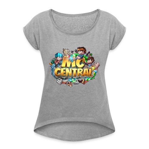 MC Central Logo - Women's Roll Cuff T-Shirt