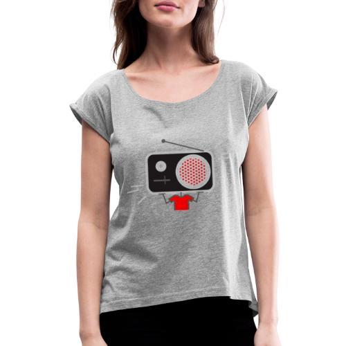 Red MusiqHead Merch - Women's Roll Cuff T-Shirt