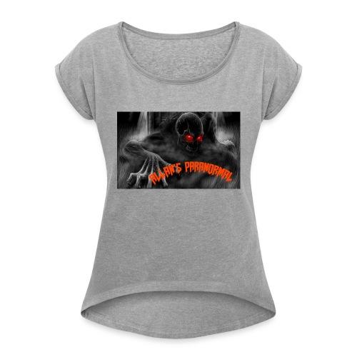 ALLAN'S PARANORMAL TEAM co. - Women's Roll Cuff T-Shirt