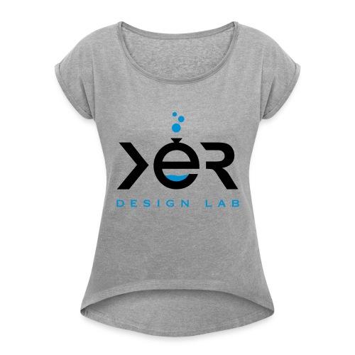 xer logo black - Women's Roll Cuff T-Shirt