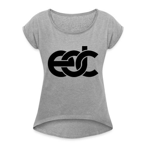 EDC Electric Daisy Carnival Fan Festival Design - Women's Roll Cuff T-Shirt