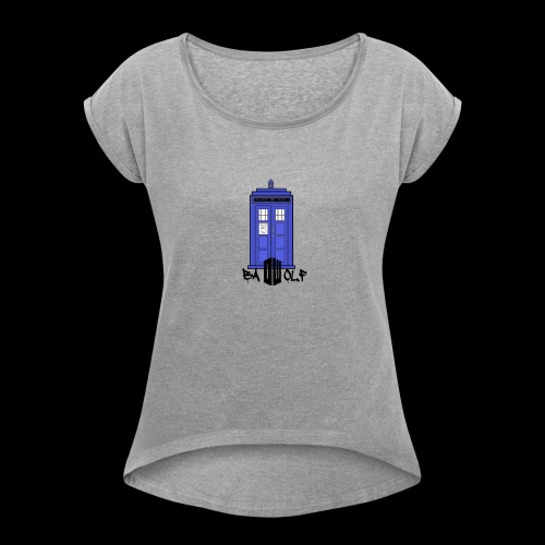 TARDIS - Women's Roll Cuff T-Shirt