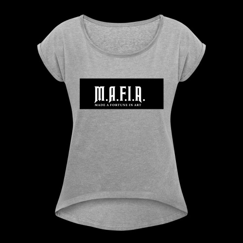 Classic Mafia Logo Black - Women's Roll Cuff T-Shirt