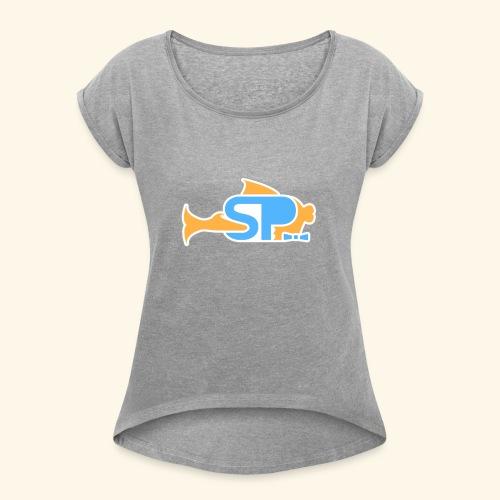 PuffyLogo - Women's Roll Cuff T-Shirt