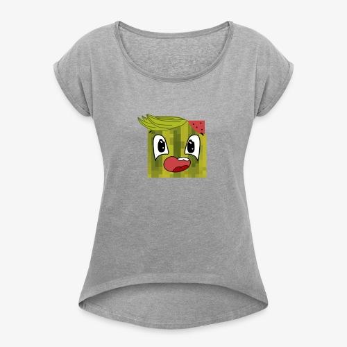 rangerone07 cartoon head - Women's Roll Cuff T-Shirt