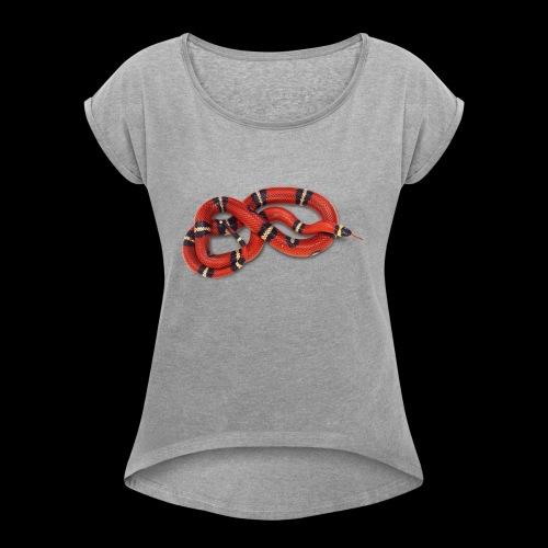 Red Snake - Women's Roll Cuff T-Shirt