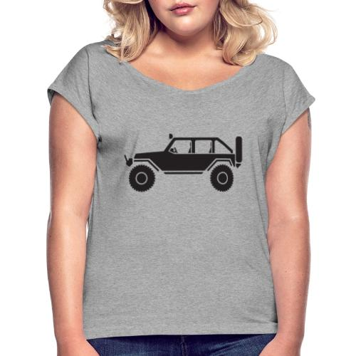 Off Road 4x4 Silhouette - Women's Roll Cuff T-Shirt