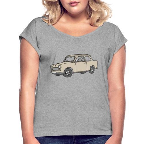 Trabant (papyrus car) - Women's Roll Cuff T-Shirt