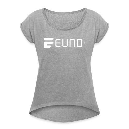 EUNO LOGO LANDSCAPE WHITE - Women's Roll Cuff T-Shirt