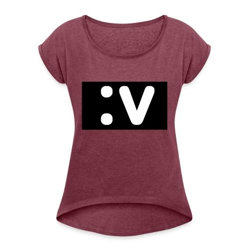 LBV side face Merch - Women's Roll Cuff T-Shirt
