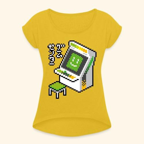 Pixelcandy_AW - Women's Roll Cuff T-Shirt