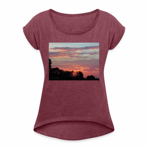 Sunset of Pastels - Women's Roll Cuff T-Shirt