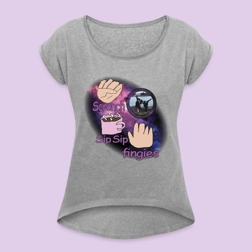 three meme doublesneeze - Women's Roll Cuff T-Shirt