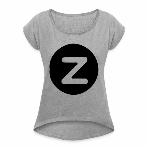z logo - Women's Roll Cuff T-Shirt