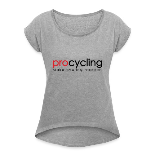 procycling luxembourg - Women's Roll Cuff T-Shirt