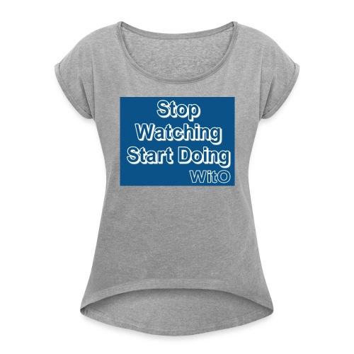 STOPWATCH - Women's Roll Cuff T-Shirt