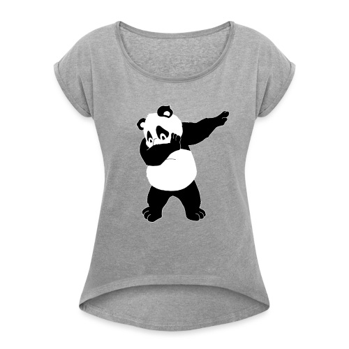 Dabbing Bear - Women's Roll Cuff T-Shirt
