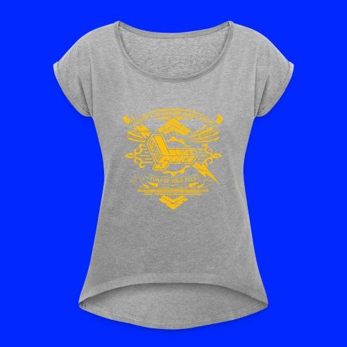 Vintage Leet Sauce Studios Crest Gold - Women's Roll Cuff T-Shirt