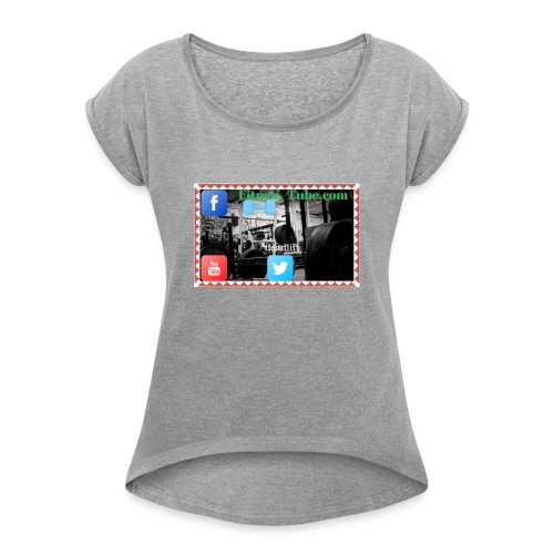 gym199 1 - Women's Roll Cuff T-Shirt