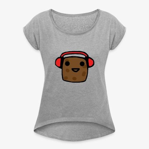 Shirt Design Potato - Women's Roll Cuff T-Shirt