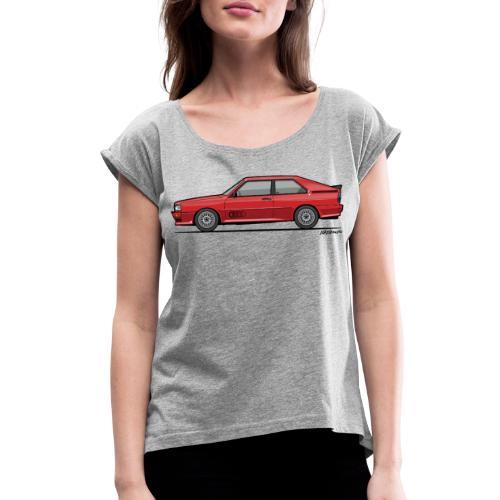 four rings b2 red quattro - Women's Roll Cuff T-Shirt