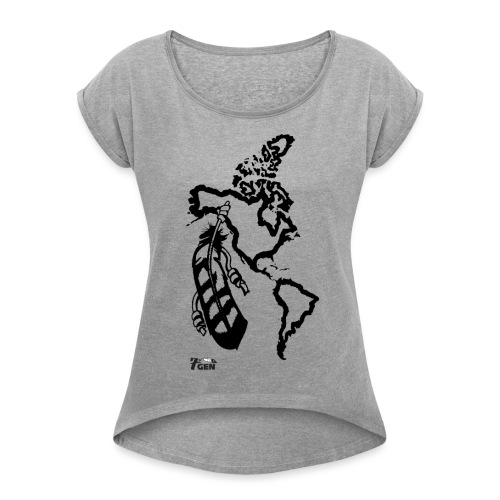 NativeLand - 7thGen - Women's Roll Cuff T-Shirt