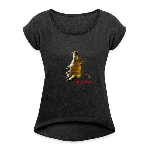 Croatian Gourmet 2 - Women's Roll Cuff T-Shirt