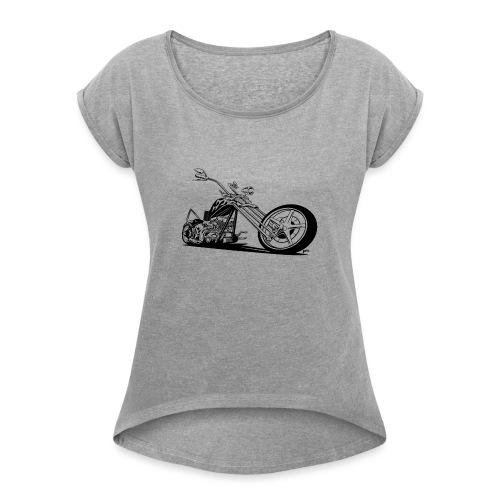 Custom American Chopper Motorcycle - Women's Roll Cuff T-Shirt