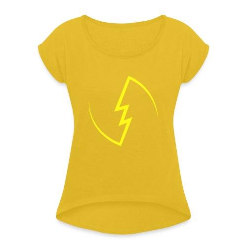 Electric Spark - Women's Roll Cuff T-Shirt