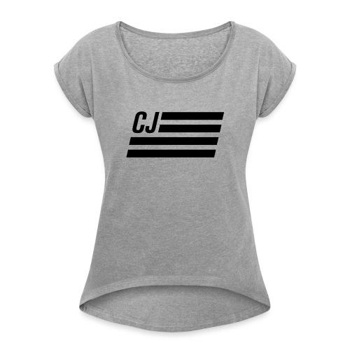 CJ flag - Autonaut.com - Women's Roll Cuff T-Shirt