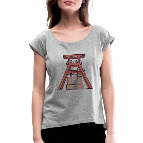 Zollverein Coal Mine Industrial Complex in Essen - Women's Roll Cuff T-Shirt