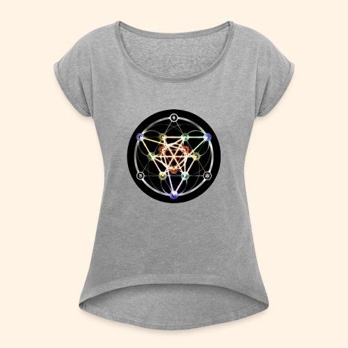 Classic Alchemical Cycle - Women's Roll Cuff T-Shirt