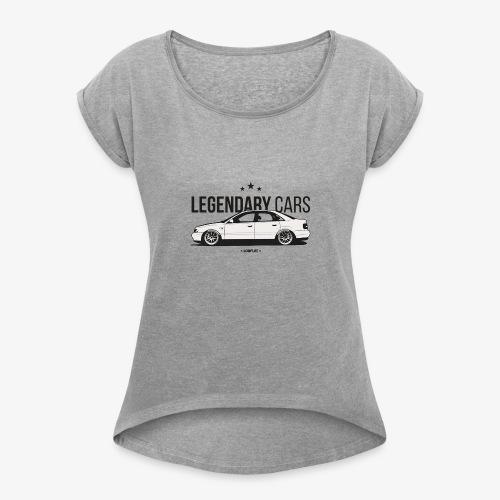 Legendary cars audi - Women's Roll Cuff T-Shirt
