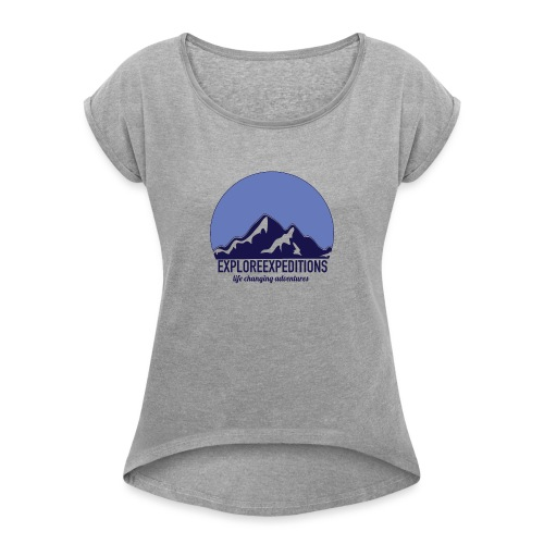 Explore Expeditions Mountains - Women's Roll Cuff T-Shirt