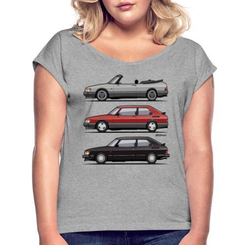 Saab 900 Turbo Trio - Women's Roll Cuff T-Shirt