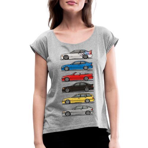 Stack of E36 Variants - Women's Roll Cuff T-Shirt