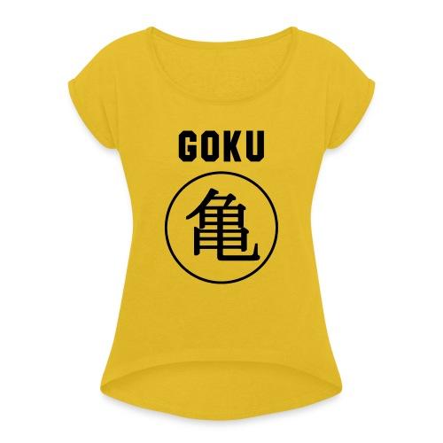 GOKU - TURTLE - Women's Roll Cuff T-Shirt