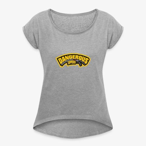 Text Logo - Women's Roll Cuff T-Shirt