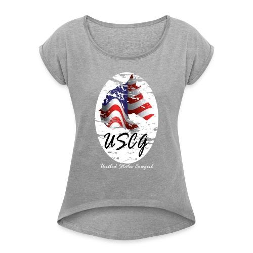 United States Cowgirl Shirts - Women's Roll Cuff T-Shirt