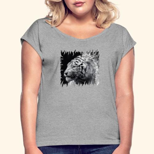 tiger - Women's Roll Cuff T-Shirt