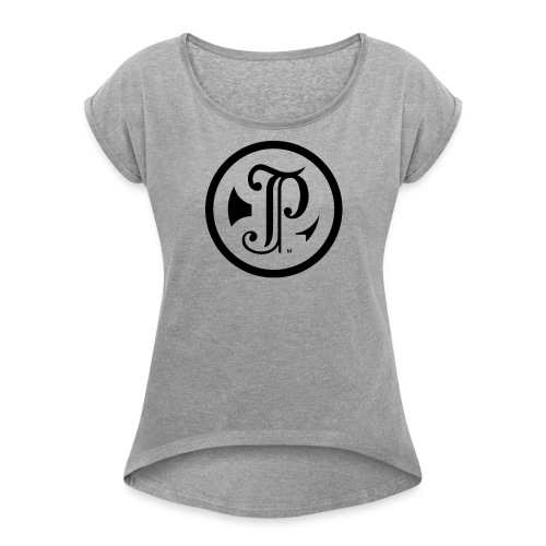 TP Logo - Women's Roll Cuff T-Shirt