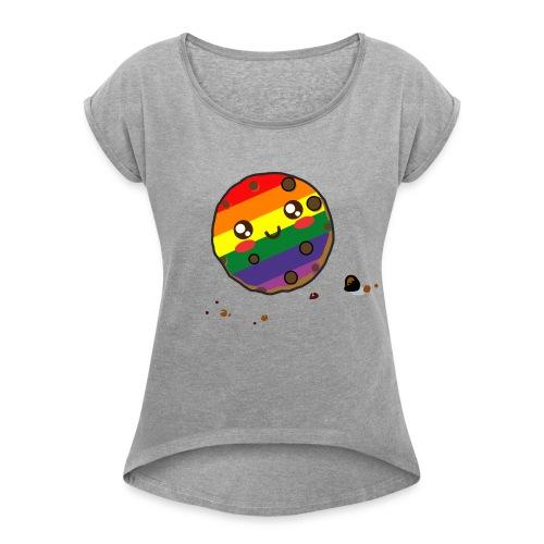 cookie lgbt - Women's Roll Cuff T-Shirt