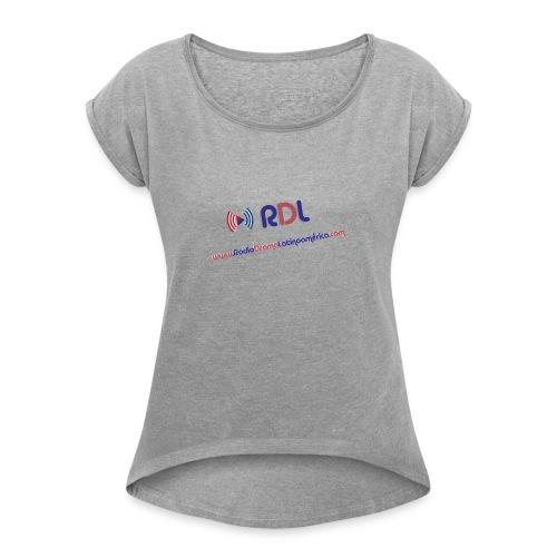 oie transparent 1 - Women's Roll Cuff T-Shirt