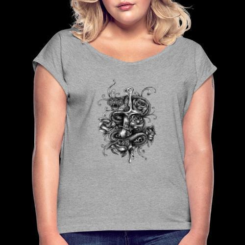 Dagger And Snake - Women's Roll Cuff T-Shirt