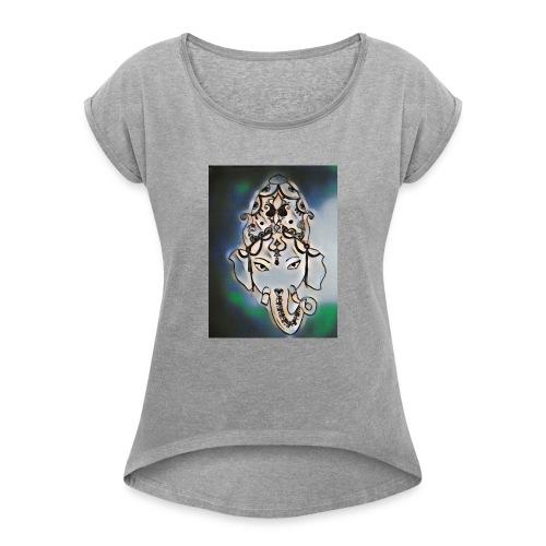 India henna dark - Women's Roll Cuff T-Shirt