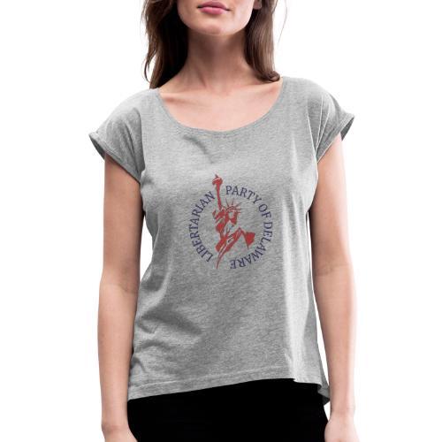 Libertarian Party of Delaware Logo - Women's Roll Cuff T-Shirt