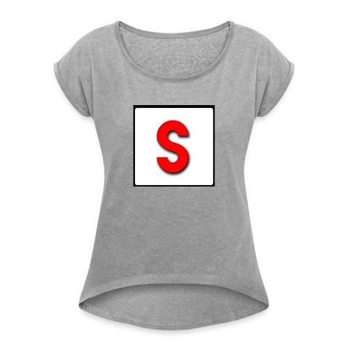 clan logo - Women's Roll Cuff T-Shirt